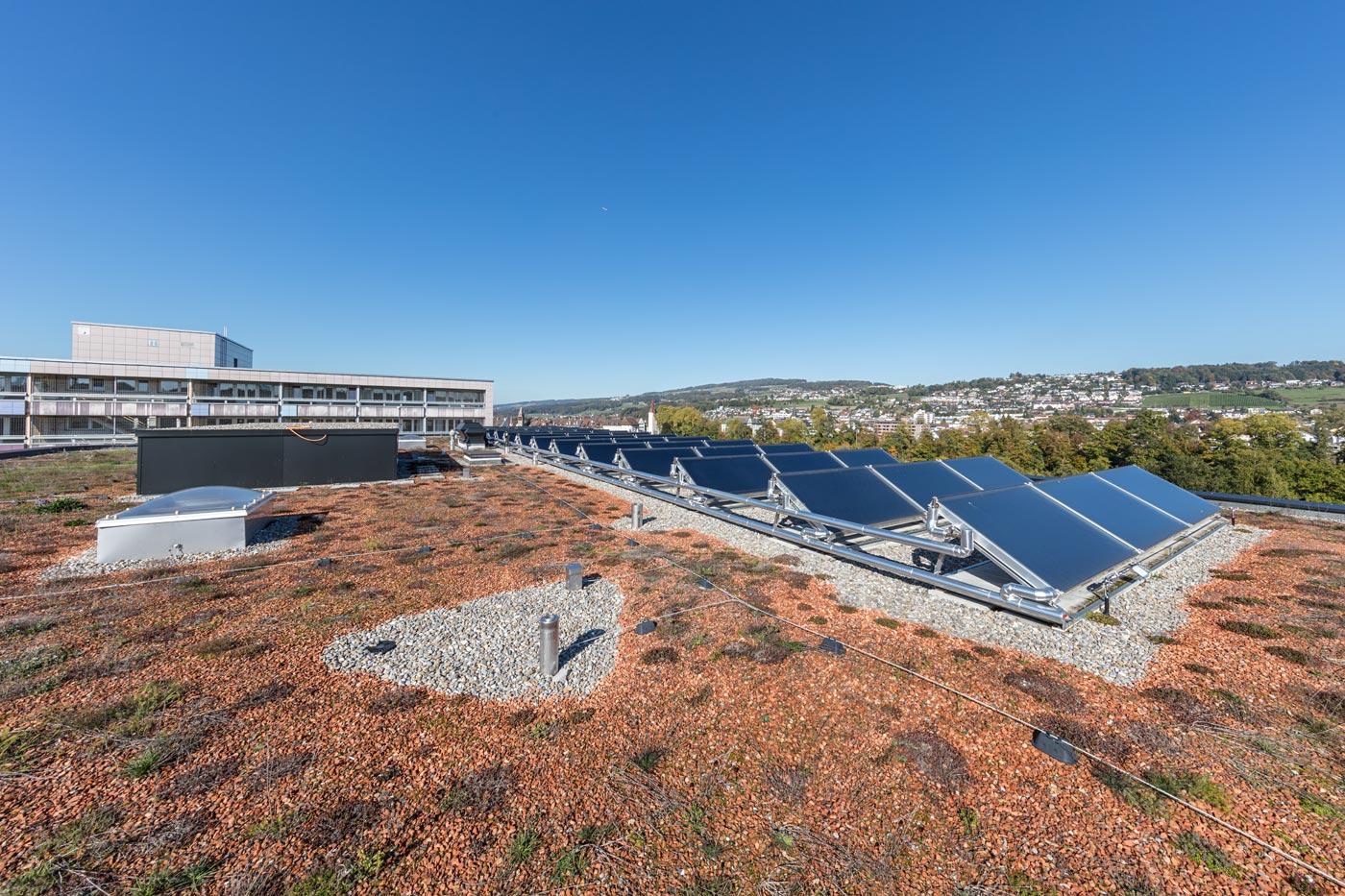 flachdach, dach begrünt, spenglerei, spenglerarbeiten, metallbau, fassade, photovoltaik, flachdach